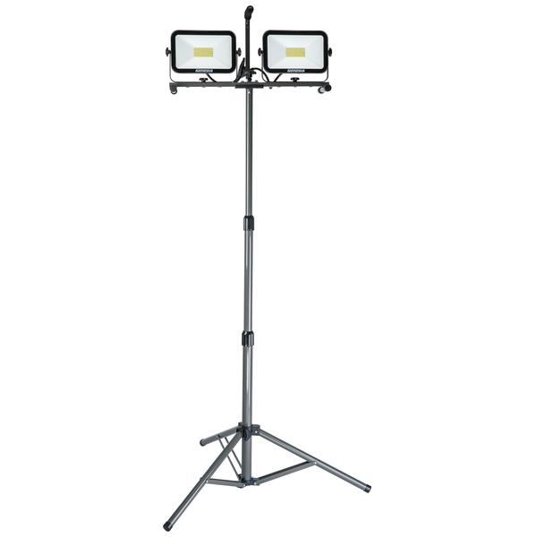 Genesis GWL13130T 13,000-Lumen Dual-Head LED Work Light with Tripod