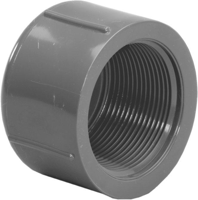 301658 1/2IP PVC S80 CAP