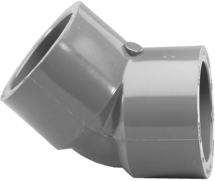 306108 1 IN. PVC S80 45 ELBOW