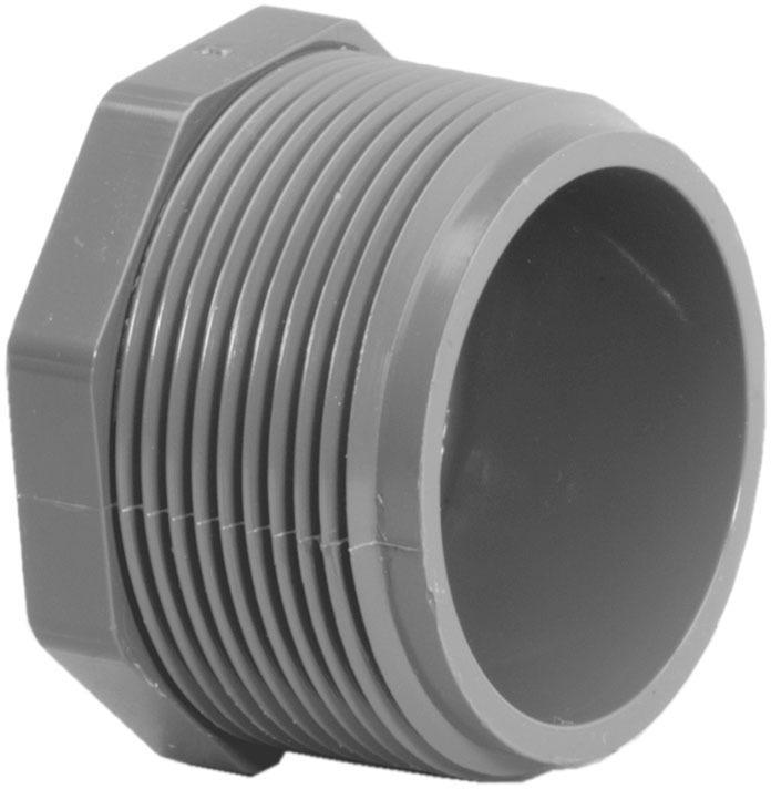 318108 1 IN. MIP PVC S80 PLUG