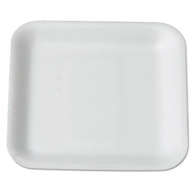 Supermarket Tray, Foam, White, 5-1/4 x 5-1/4, 125/Bag