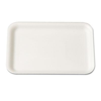 Supermarket Tray, Foam, White, 8-1/4x5-3/4, 125/Bag