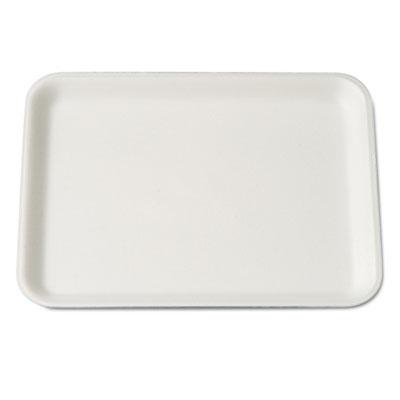 Supermarket Tray, Foam, White, 9-1/4x7-1/4x1/2, 125/Bag