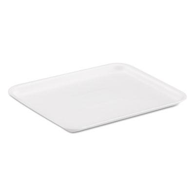 Supermarket Trays, White, Foam, 8 1/4 x 1/2 x 10 1/4, 500/Carton