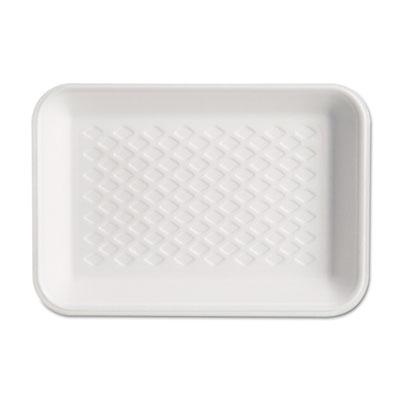 Supermarket Tray, Foam, White, 8-1/4x5-3/4x1, 125/Bag