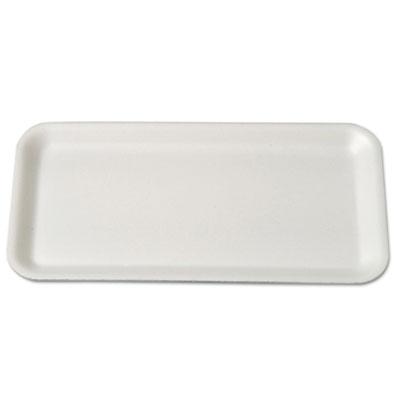 Supermarket Trays, Foam, White, 10 3/4 x 5 3/4 x 1/2