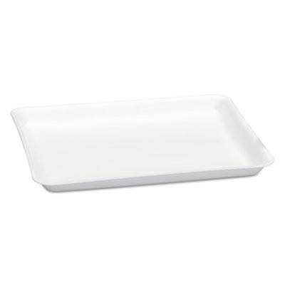 Supermarket Tray, Foam, White, 9 1/4 x 12.13 x 3/4, 125/Bag, 2 Bag/Carton
