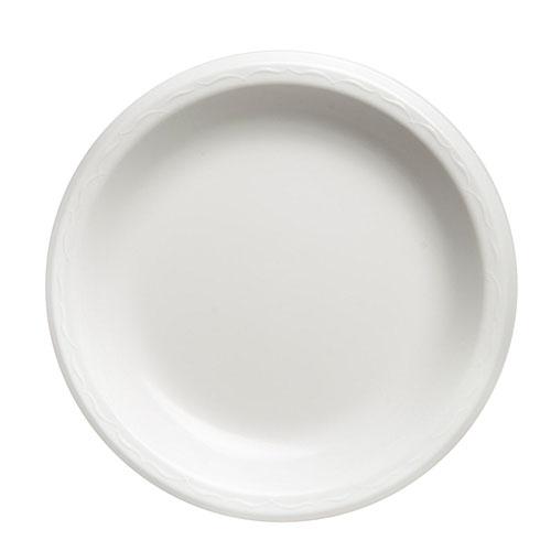"Elite Laminated Foam Plates, 10 1/4"" Dia, White, Round, 125/Pack, 4 Pack/Carton"