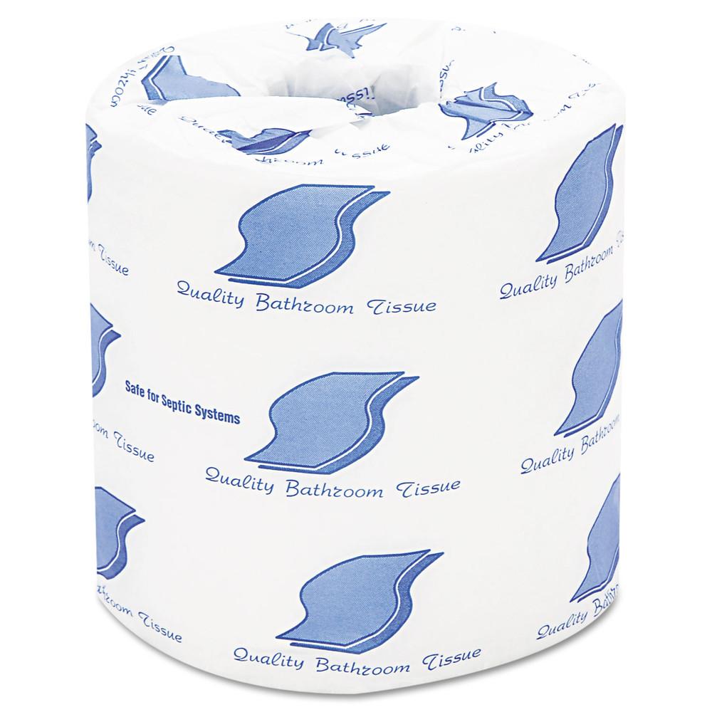 Bath Tissue, 2-Ply, 420 Sheets/Roll, White, 96 Rolls/Carton