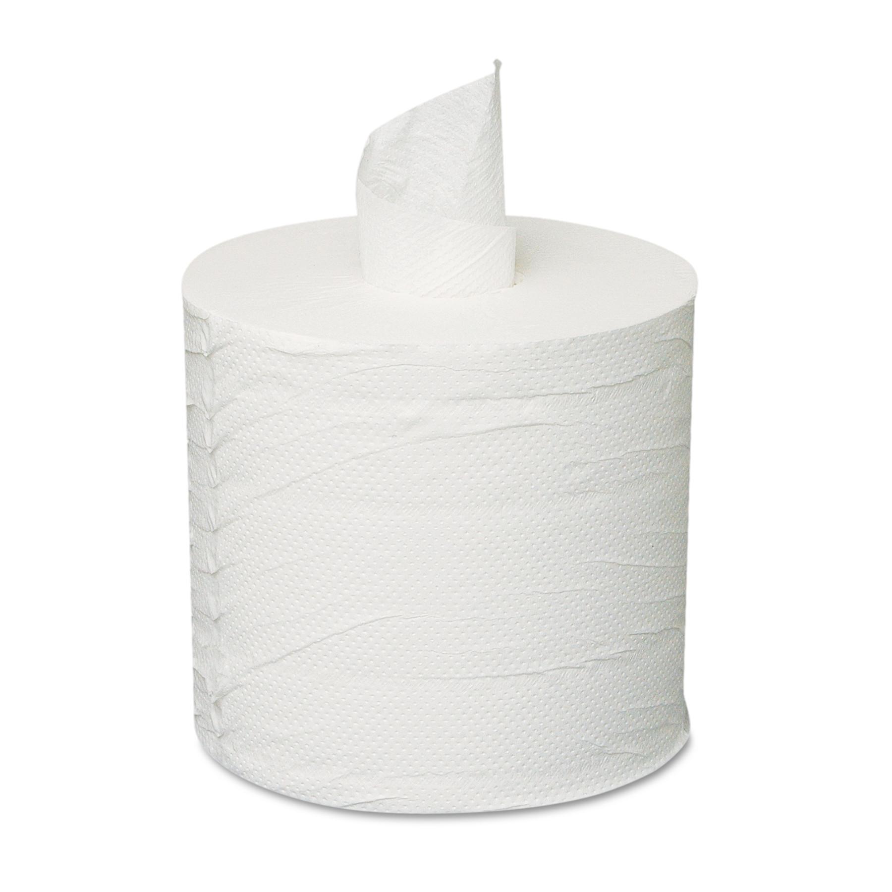 Centerpull Towels, 2-Ply, White, 6 Rolls/Carton