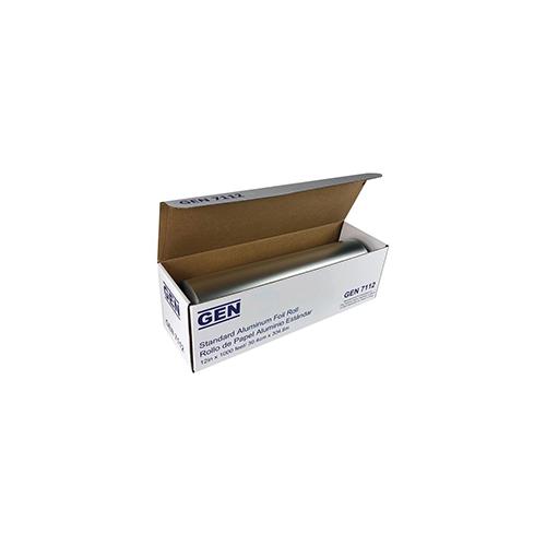 """Standard Aluminum Foil Roll, 12"""" x 1,000 ft, 6/Carton"""