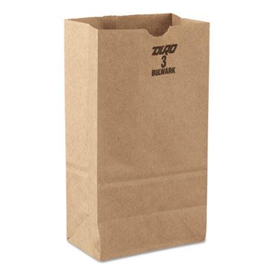 #3 Paper Grocery Bag, 30lb Kraft, Standard 4 3/4 x 2 15/16 x 8 9/16, 500 bags