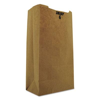 #6 Paper Grocery Bag, 35lb Kraft, Standard 6 x 3 5/8 x 11 1/16, 2000 bags