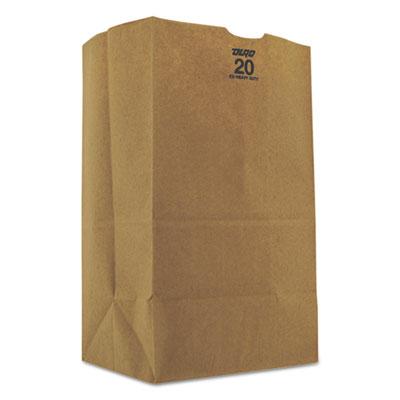 #20Squat Grocery Bag, 57lb Kraft, Extra-Heavy-Duty 8 1/4x5 5/16x13 3/8, 500 bags