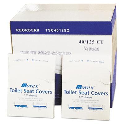 Quarter-Fold Toilet Seat Covers, 14.5 x 16.5, White, 5,000/Carton