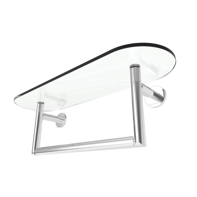 18 Tempered Shelf With Towel Bar *SINE Piece