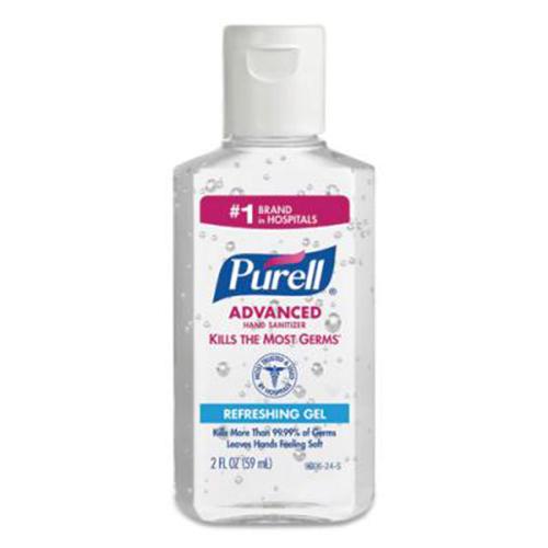 Advanced Gel Hand Sanitizer, 2 oz Flip Cap Bottle, 24/Carton