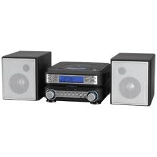GPX HC221B BLACK SHELF SYSTEM CD AM FM MP3 LCD DISPLAY