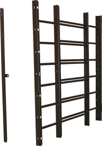 Grisham 96016 Horizontal Adjustable Window Guard, 22-3/4 in W x 26-3/4 in H x 1 in D, Black