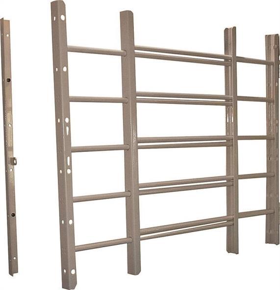 Grisham 95035 Horizontal Adjustable Window Guard, 22-3/4 in W x 22-3/4 in H x 1 in D, White