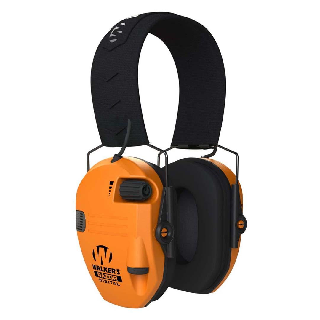 Walker's Safety Razor Slim Electronic Muff - Blaze Orange