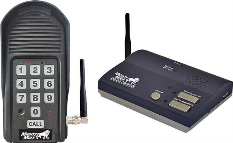 Wireless Intercom & Keypad for Automatic Gate Openers