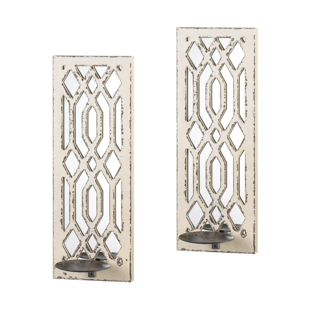 Deco Mirror Wall Sconce Set