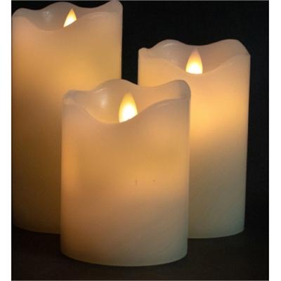 "GT 3""3 Pk Cream LED Plr Candle"