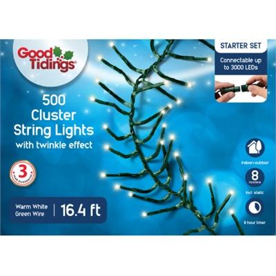 GT 16.4'L Cluster 500 LED Wht