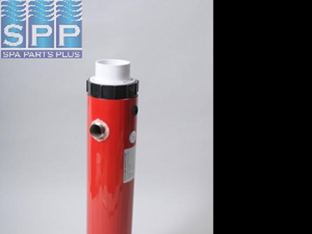"Heat Exchanger, 26KCal, 3""x 22-1/8""Long, 1"" MIPT, 2"" Tailpieces,"