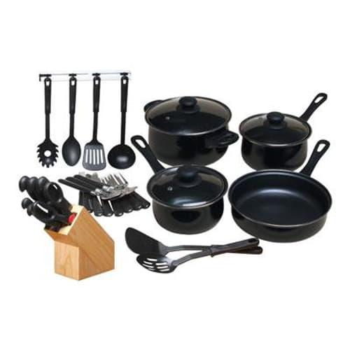 GH 32 Piece Nonstick Cookware Set Black