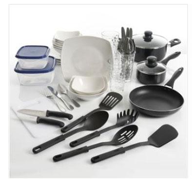 45pc pots plates utencil