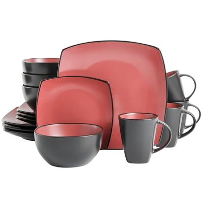 Soho Lounge  16pc DW BRICK red