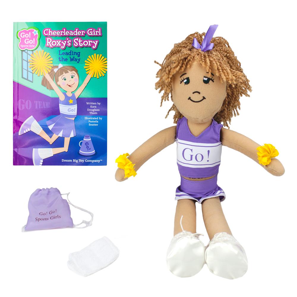 Cheerleader Girl Roxy Read & Play Doll and Book Set