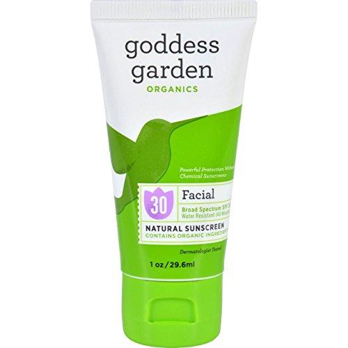 Goddess Garden Organic Sunscreen Counter Display Facial 1 Oz (20 Pack)