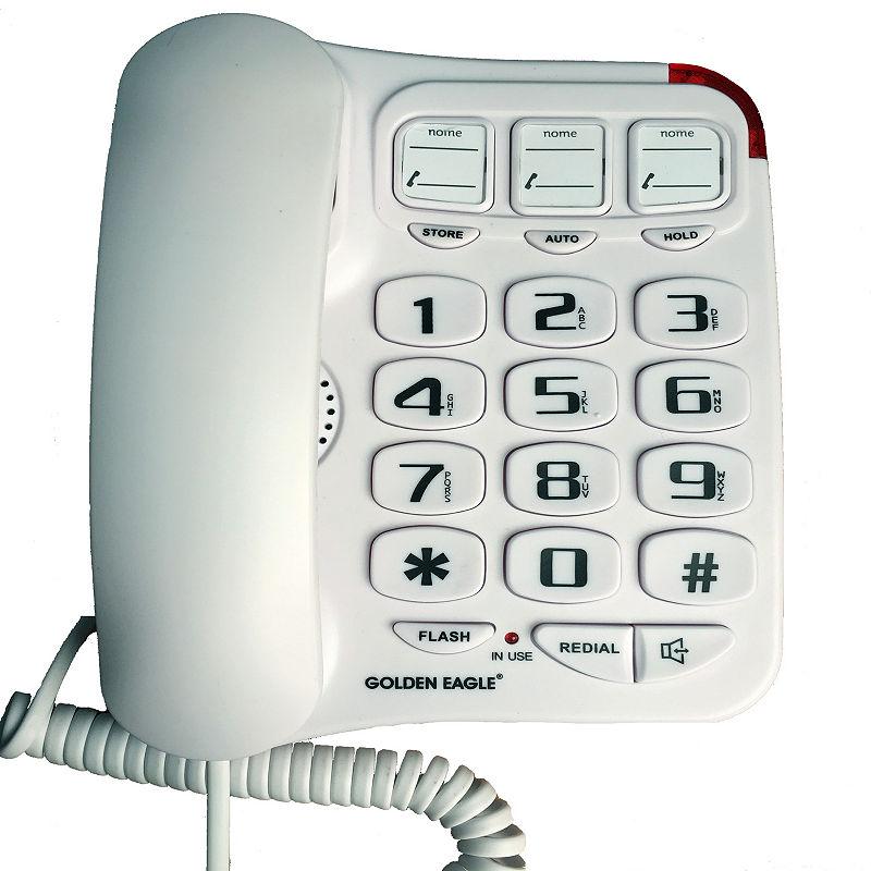 Big Button Speakerphone WHITE