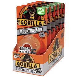 GORILLA MOUNTING TAPE 60IN 6PK BULK BOX
