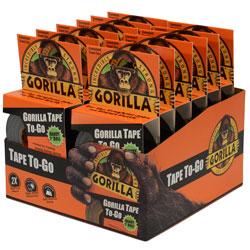 GORILLA BLACK TAPE TO GO 1 .in X30FT 12P