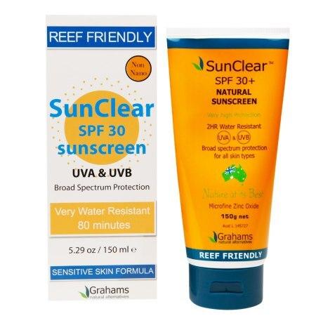 Grahams Natural Sunscreen  Sunclear  SPF 30 plus  529 oz