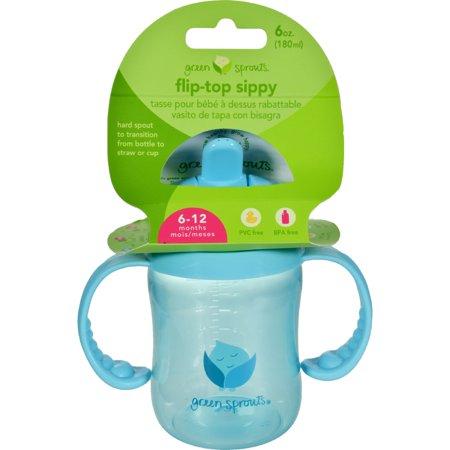 Green Sprouts Sippy Cup Flip Top Aqua (1 Count)