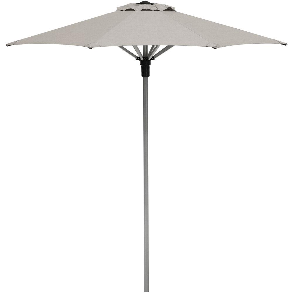 Commercial Aluminum 7.5' Umbrella Sunbrella Cast Ash