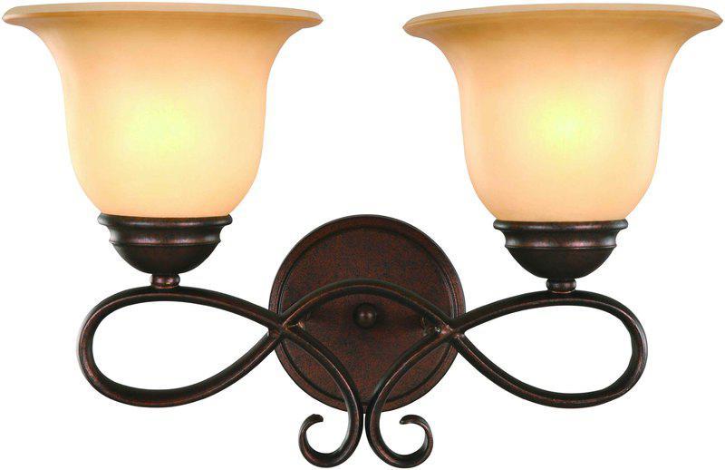16-3422 2 Light Antique Bronze Vanity Light