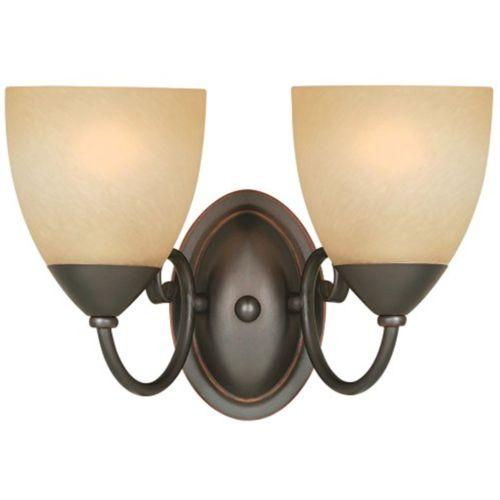 54-3827 Berkshire 2 Lights Wall/Bath Light Fixture, Oil Rubbed Bronze