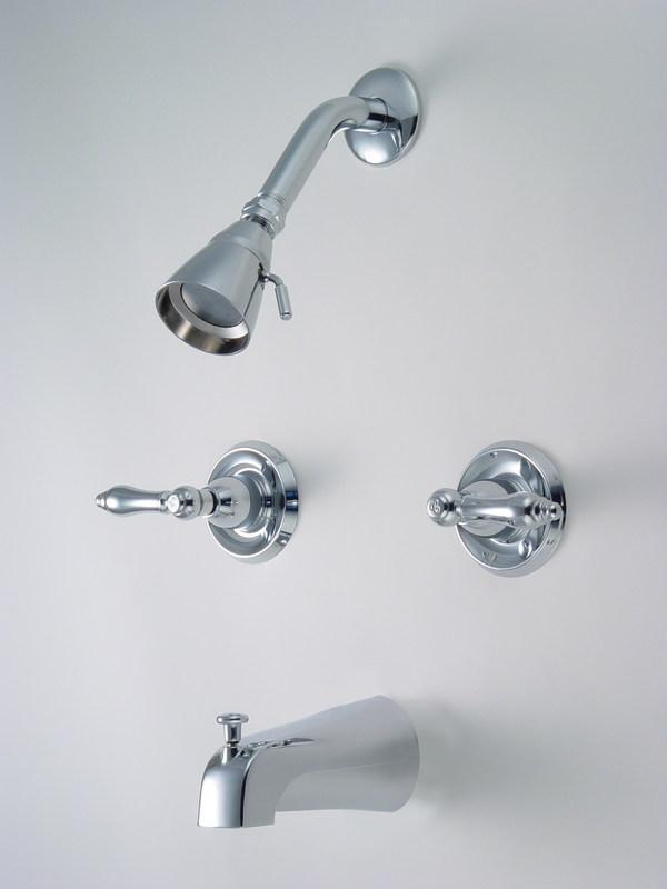12-5727 Chrome 2-Handle Tub Faucet