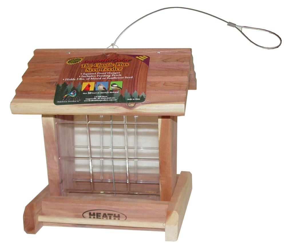 Heath Outdoor 152 Classic Hopper Bird Feeder, 3 lb Capacity, Aromatic Cedar
