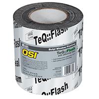 OSI 1532159 Window Flashing Tape, 6 in W x 75 ft L x 15 mil T, Black