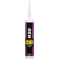 OSI H2U High Performance Window/Door/Siding Sealant, 10 oz, Cartridge, Clear, Paste