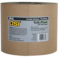 OSI 1022835 Window Flashing Tape, 6 in W x 100 ft L x 20 mil T, Black