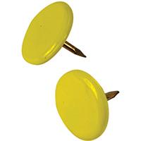 Hillman 122671 Thumb Tack, 23/64 in Diameter, 3/8 in L, 15/64 in L Shank, Steel, Yellow