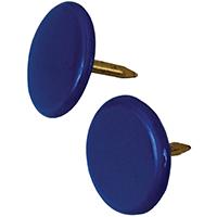 Hillman 122678 Thumb Tack, 23/64 in Diameter, 3/8 in L, 15/64 in L Shank, Metal, Blue